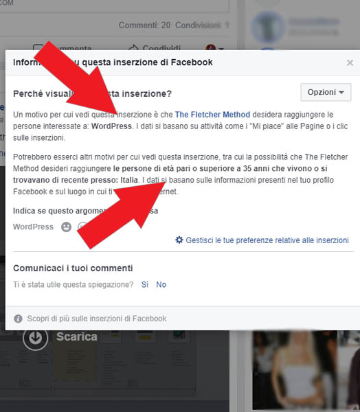 criteri di targeting facebook