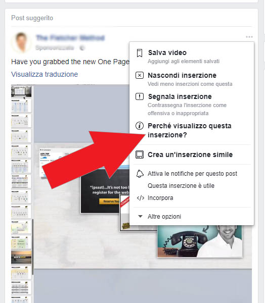 concorrenti facebook ads